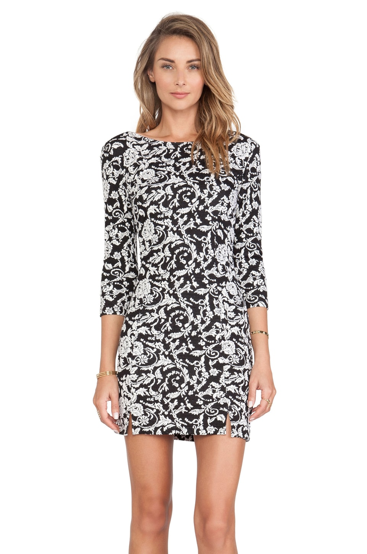 BB Dakota Melina Floral Dress in Black & White