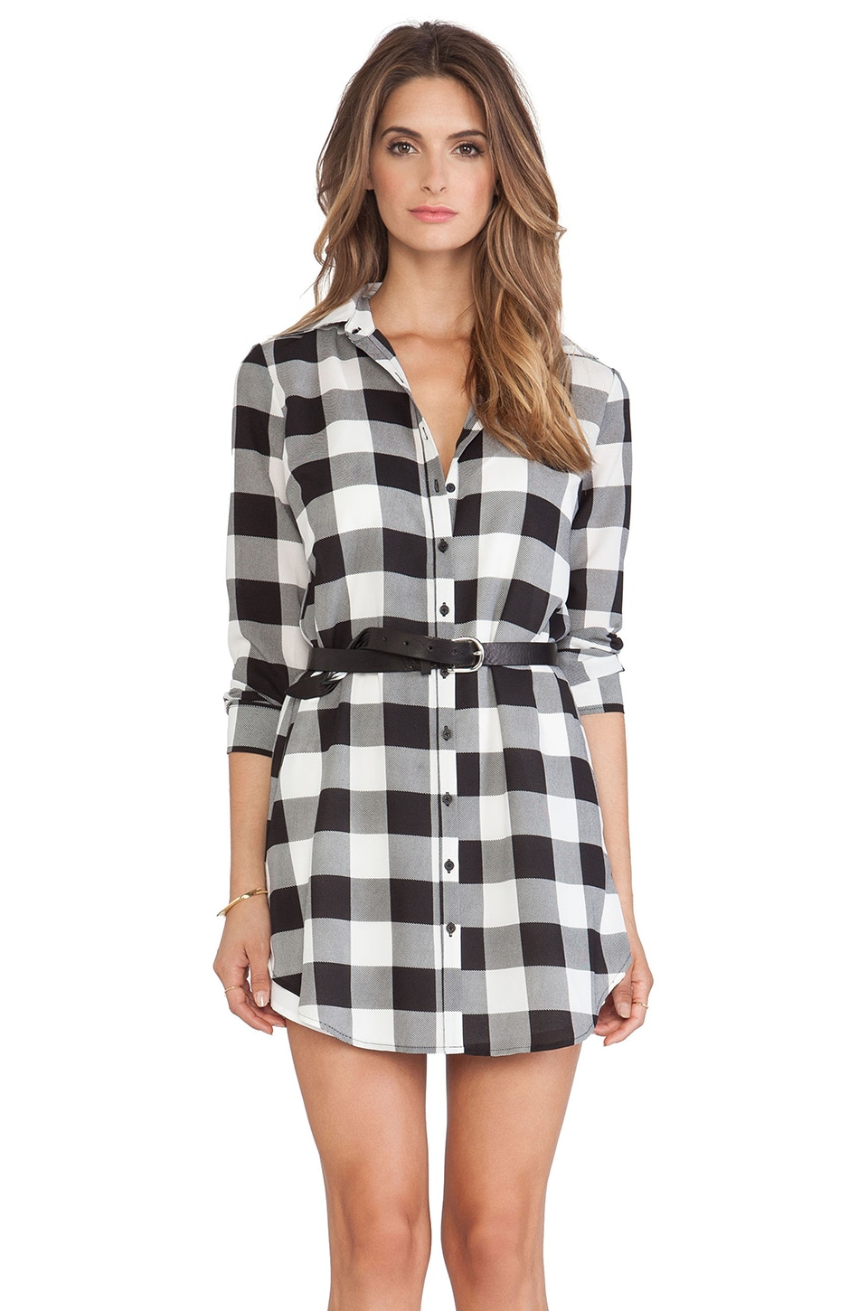 Tanwyn Plaid Shirtdress