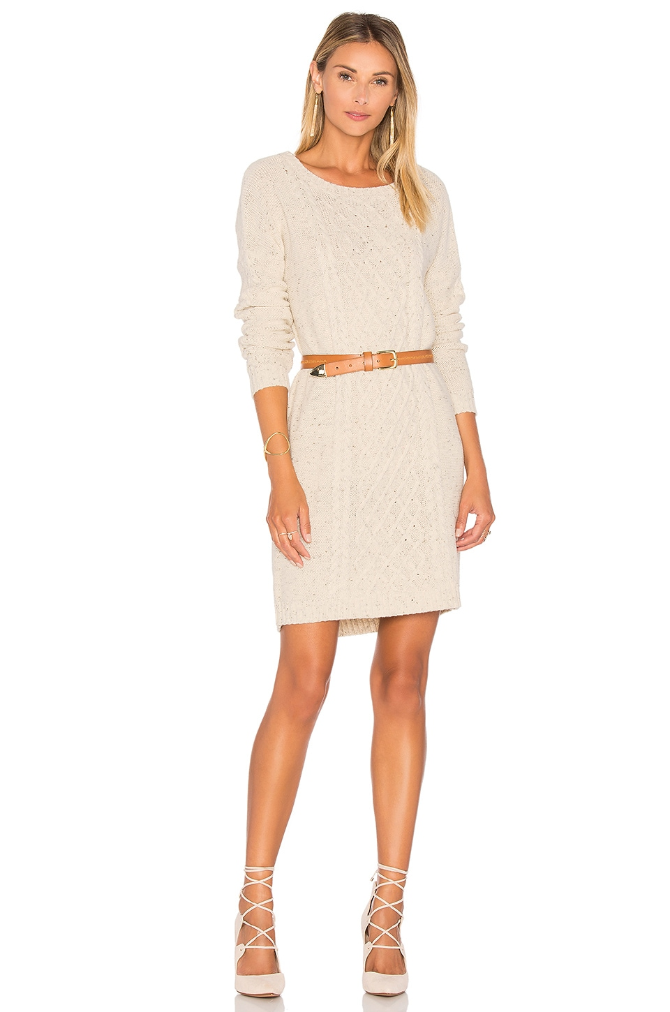 BB Dakota Jack By BB Dakota Macey Sweater Dress in Ivory