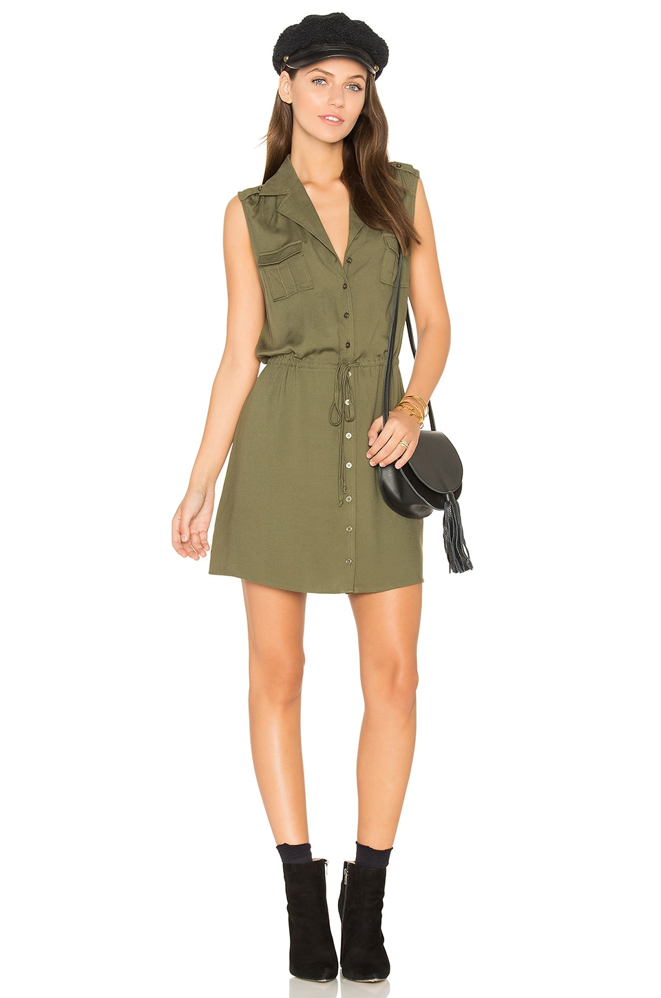 BB Dakota Jack by BB Dakota Santos Dress in Fern Green