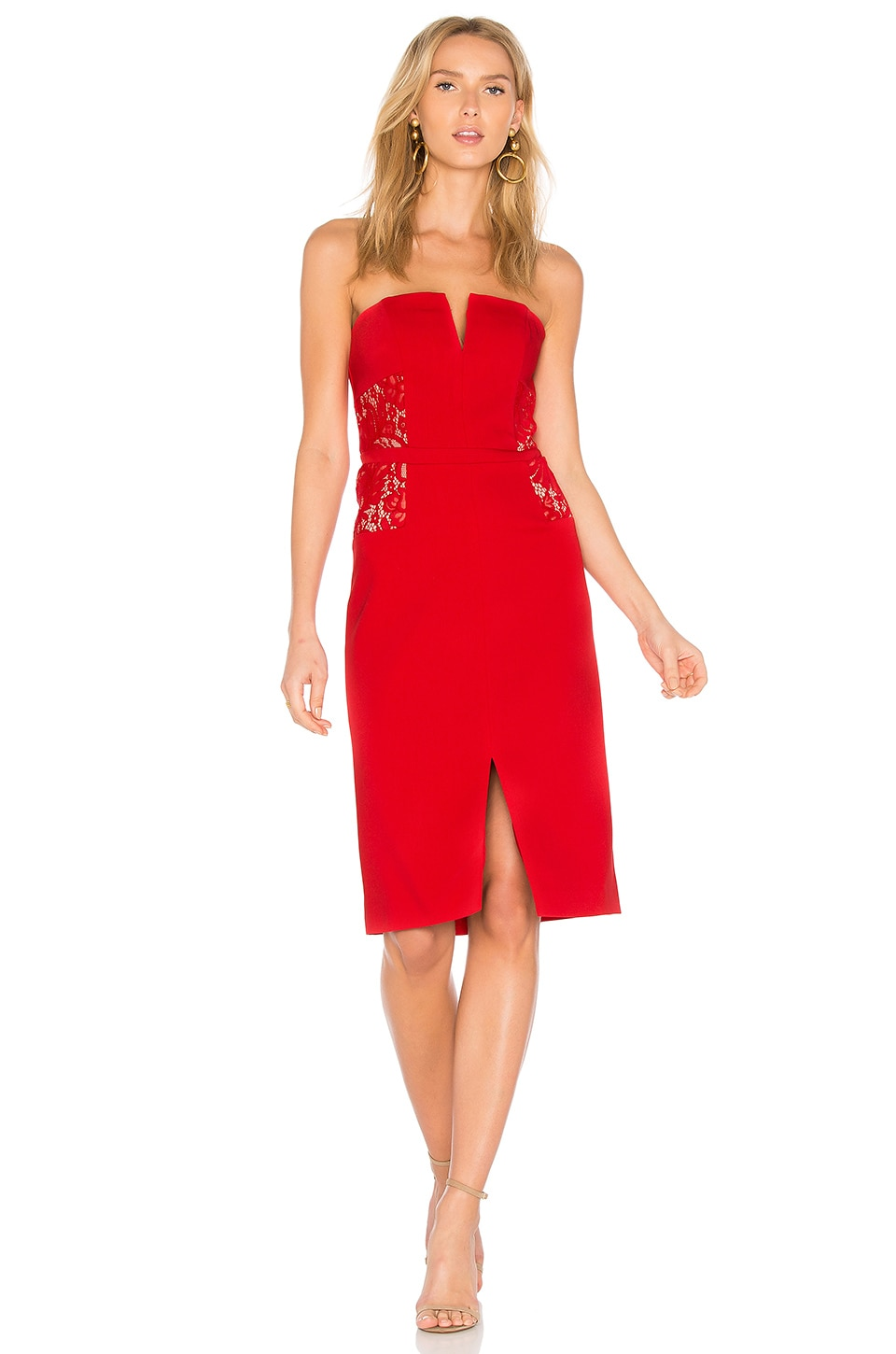 BB Dakota RSVP by BB Dakota Zina Dress in Ruby