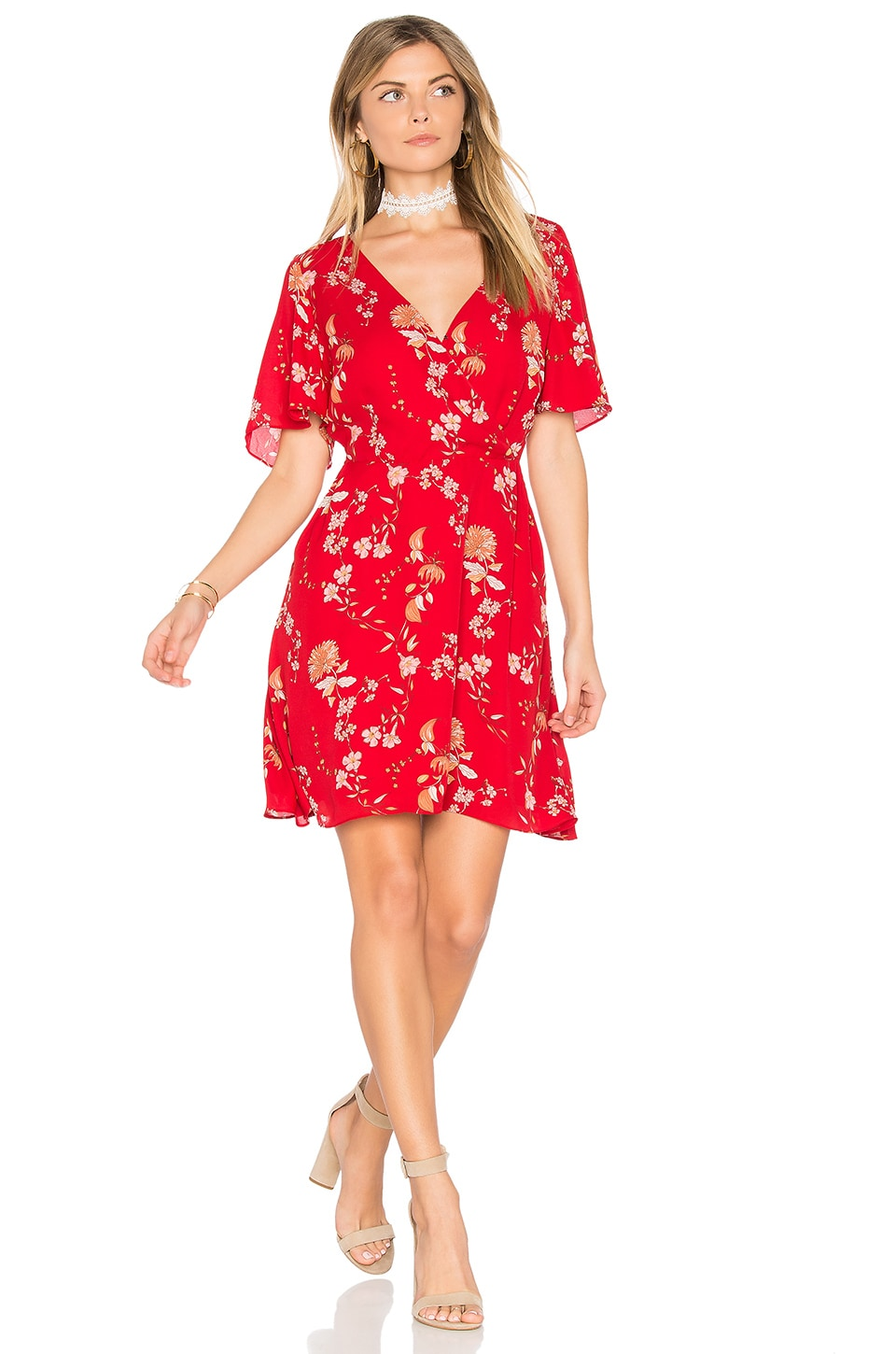 BB Dakota Laselle Dress in Red