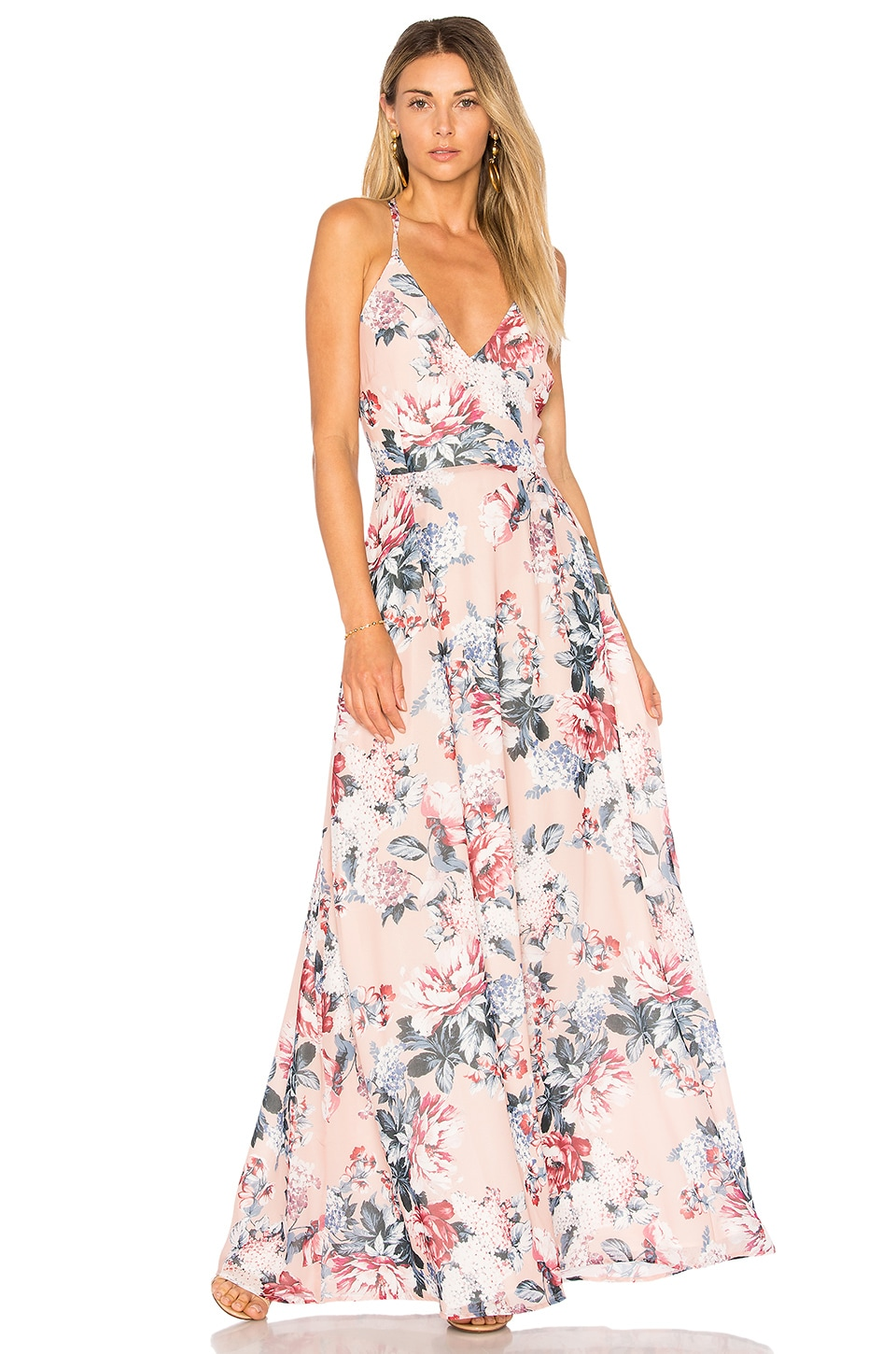 BB Dakota RSVP By BB Dakota Chantelle Dress In Vintage Rose