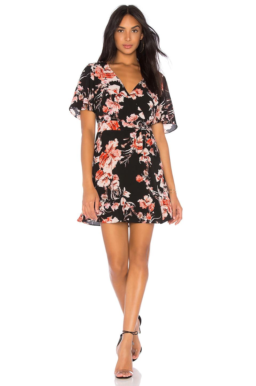 Wait Until Dark Floral Dress, Black