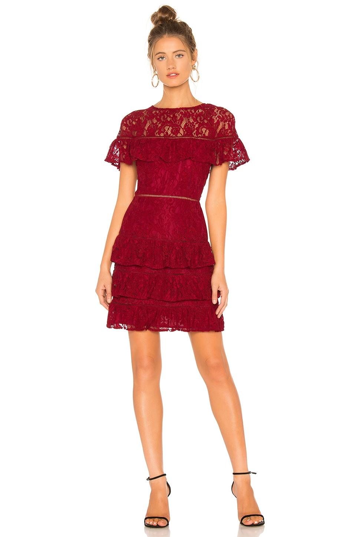 BB Dakota Aphrodite Dress in Rouge