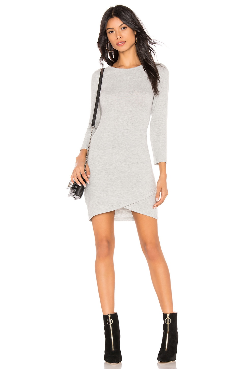 BB Dakota JACK by BB Dakota Brush Up On It Dress in Light Heather Grey