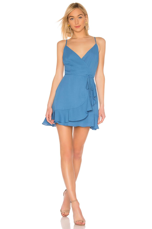 BB Dakota JACK by BB Dakota Almost Wrapped Dress in Sea Blue