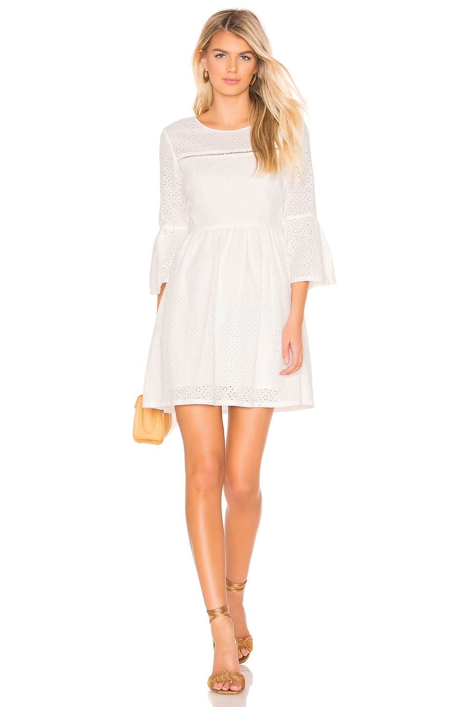 BB Dakota JACK by BB Dakota Eyelet On The Prize Dress in Bright White