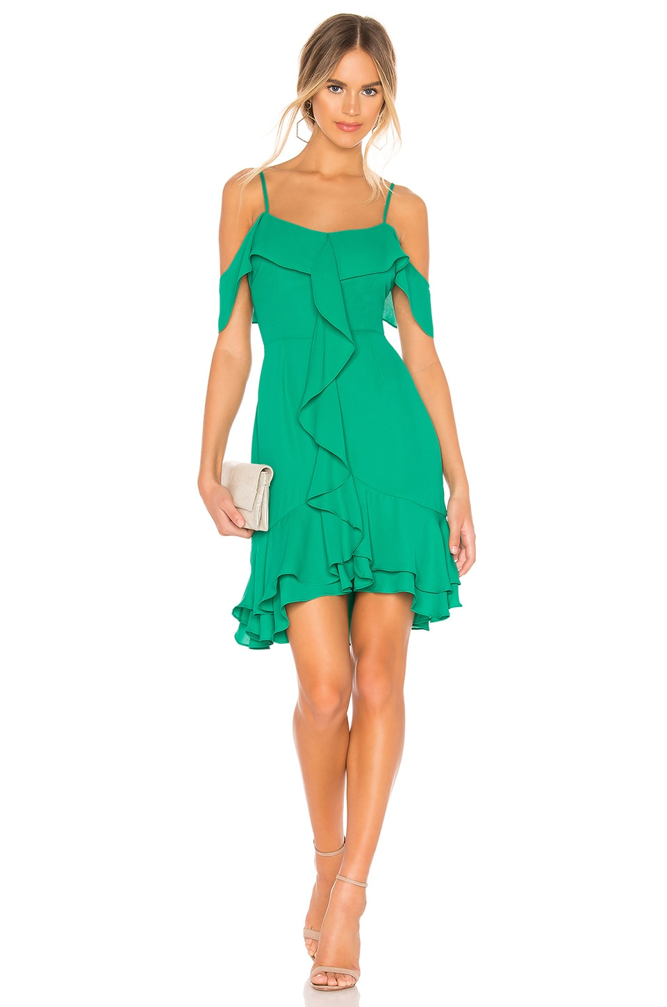 BB Dakota RSVP by BB Dakota Make An Entrance Dress in Pepper Green
