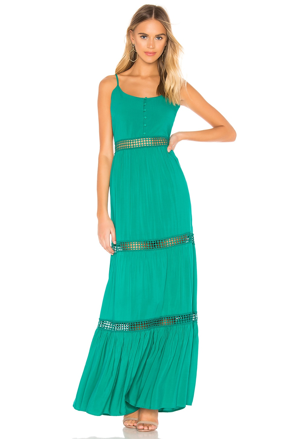 BB Dakota JACK by BB Dakota Sunshine Of My Life Dress in Pepper Green