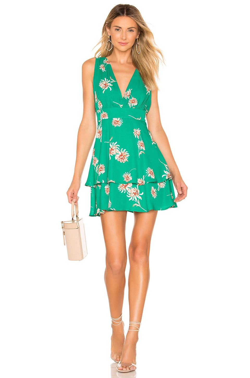 BB Dakota Garden Strolls Dress in Pepper Green