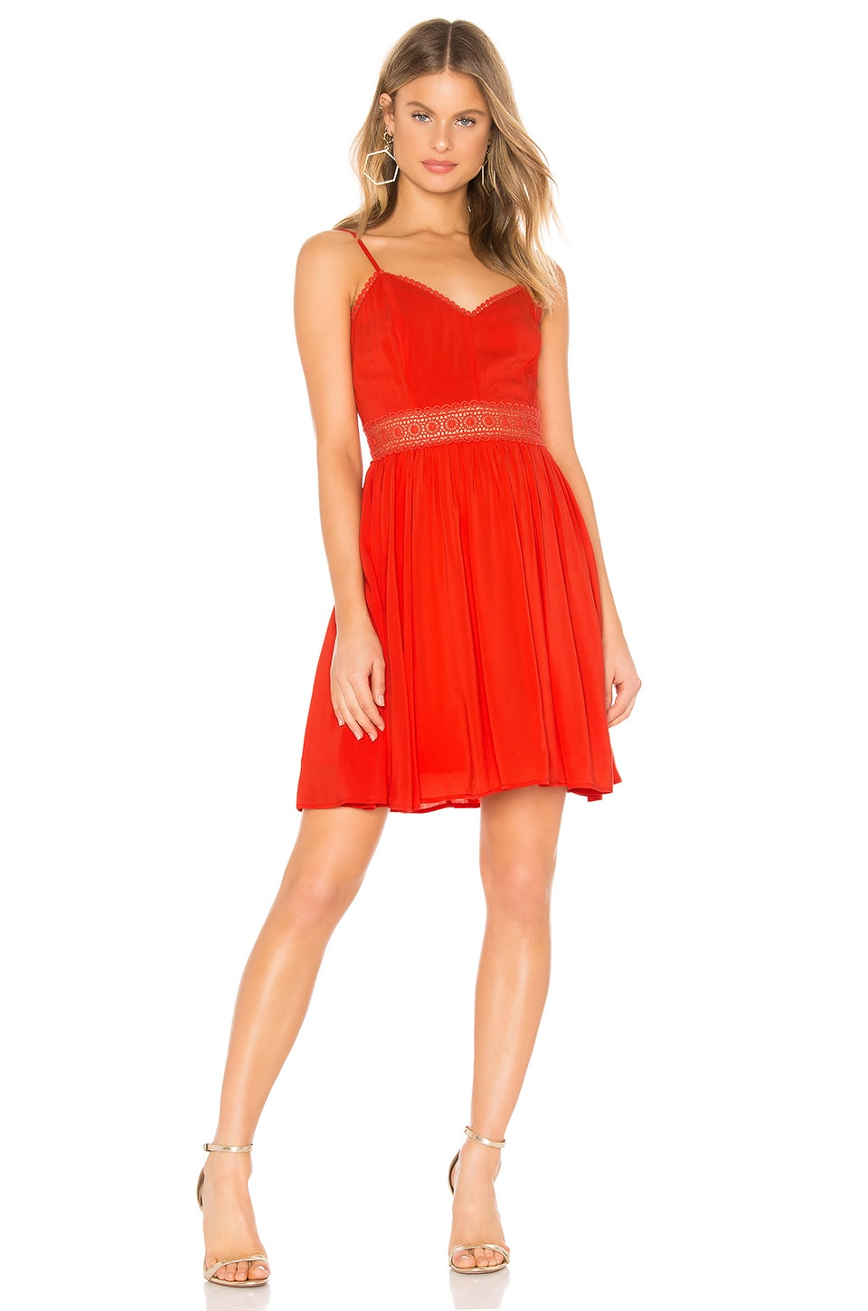BB Dakota JACK by BB Dakota Bells & Whistles Dress in Poppy Red