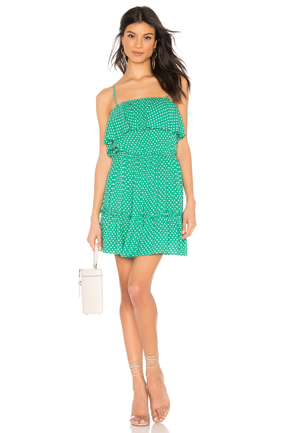 BB Dakota Dot Off The Press Dress in Kelly Green