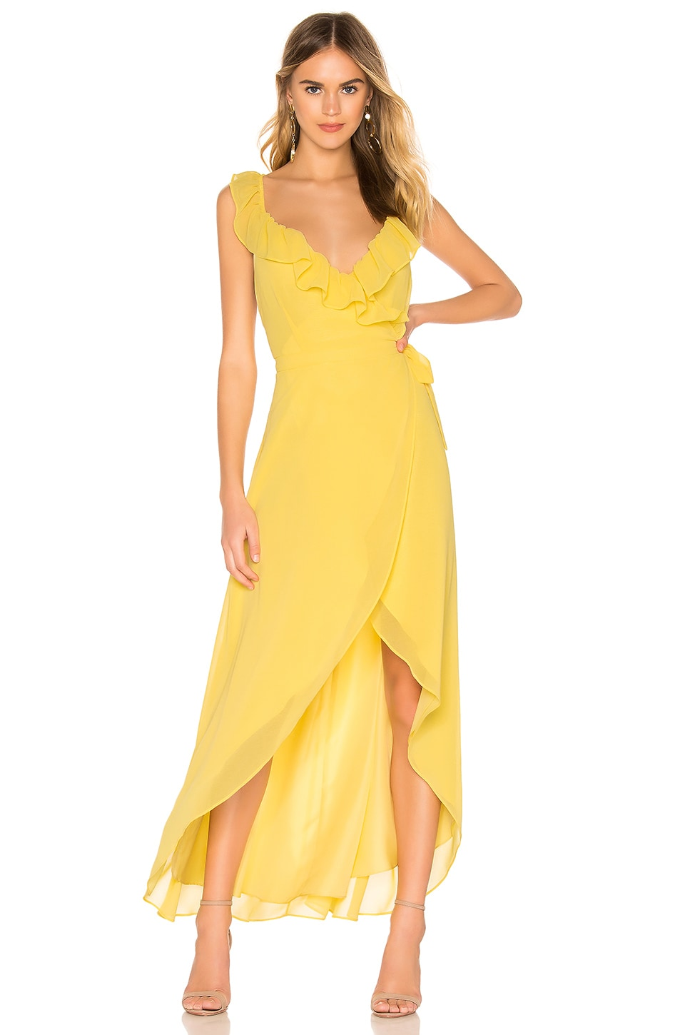 BB Dakota RSVP by BB Dakota Formation Maxi Dress in Citrus