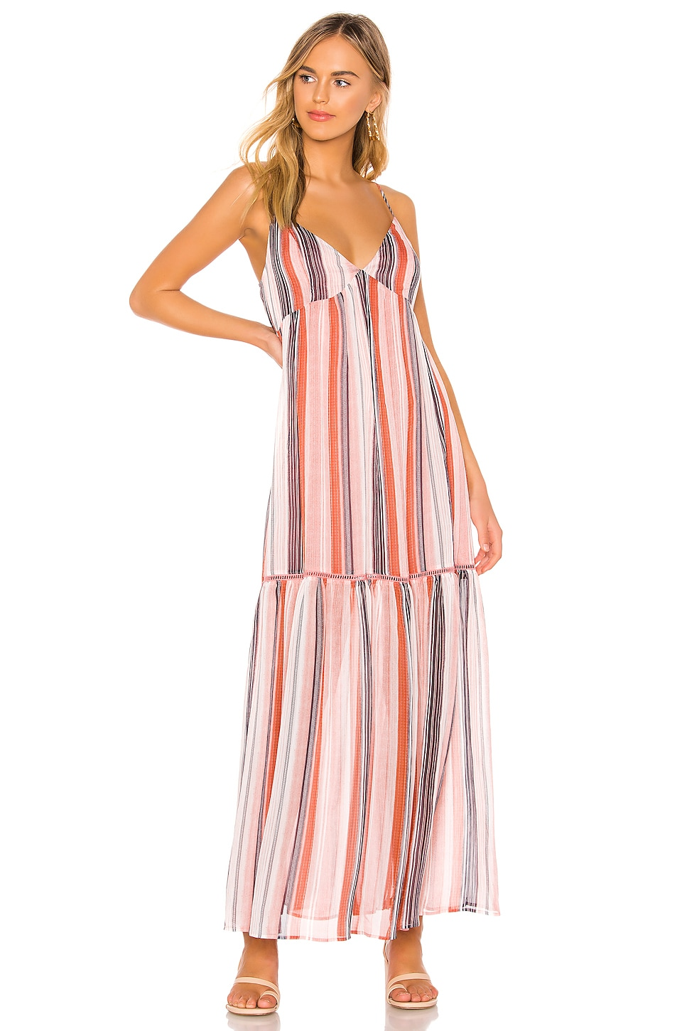 BB Dakota JACK by BB Dakota Sailors Delight Maxi Dress in Rose Dawn