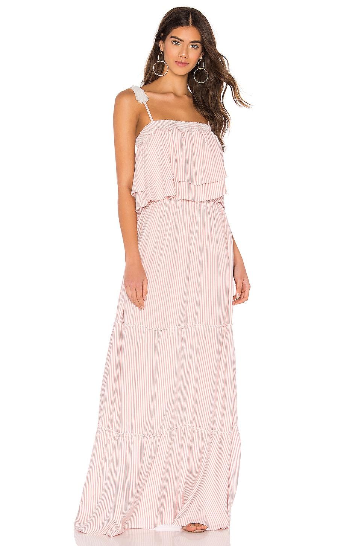 BB Dakota JACK by BB Dakota Live Laugh Layer Maxi Dress in Grapefruit