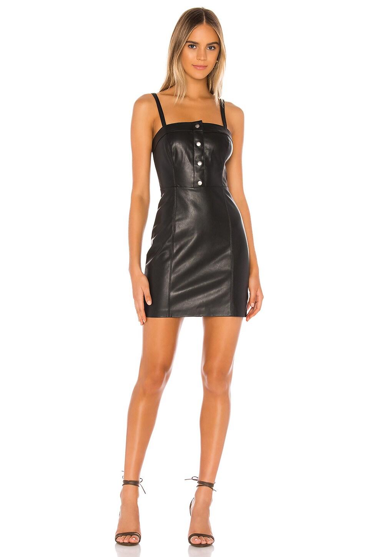BB Dakota Nice & Cool Vegan Leather Dress in Black