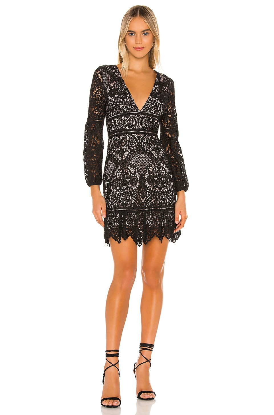 BB Dakota RSVP by BB Dakota That's Deep Lace Dress in Black