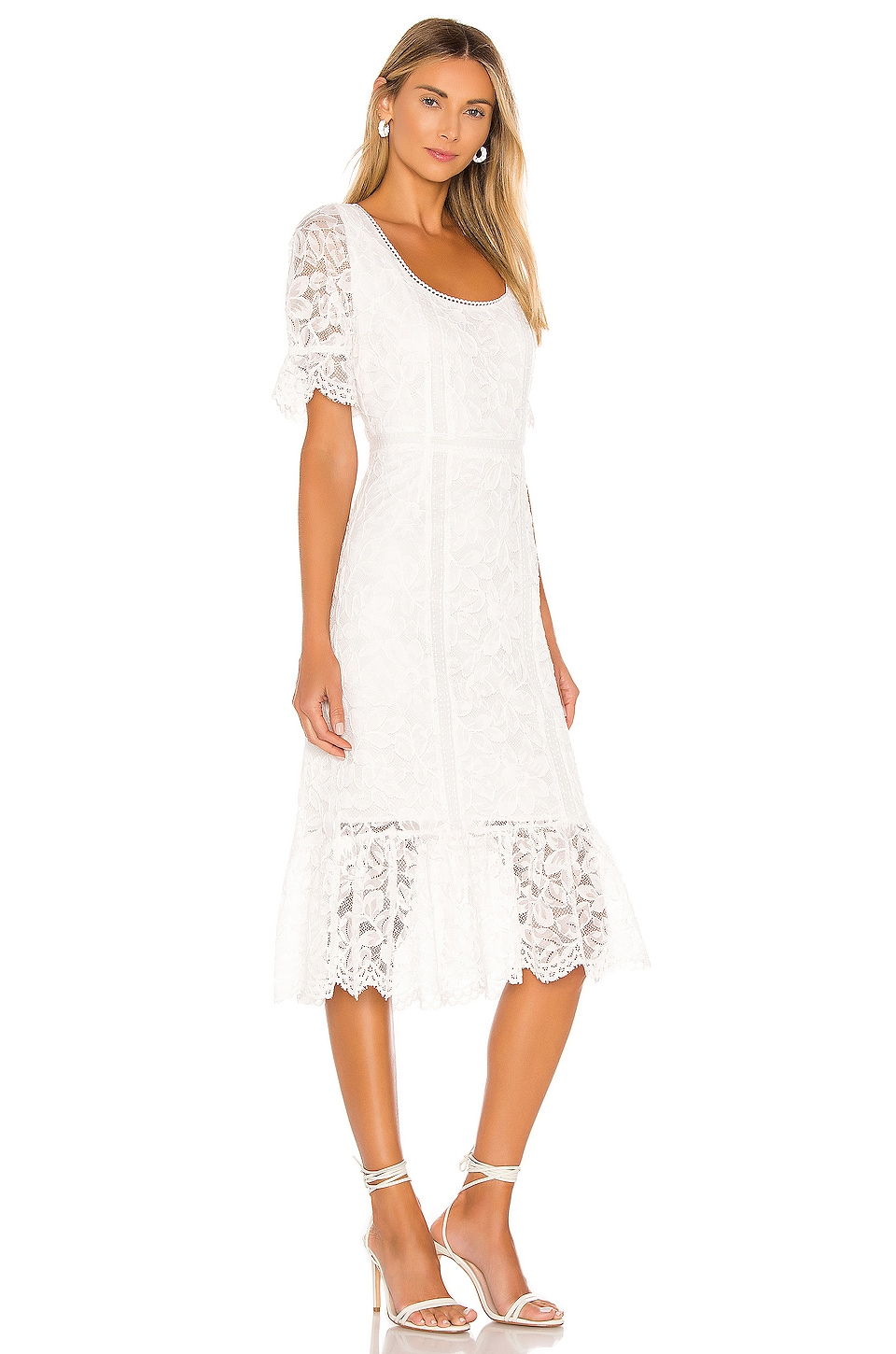 Just In Lace Midi Dress, view 2, click to view large image.