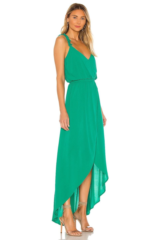 JACK by BB Dakota Ruffle & Cut Midi Dress, view 2, click to view large image.