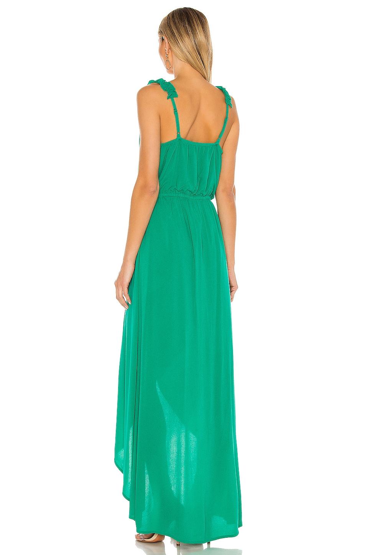 JACK by BB Dakota Ruffle & Cut Midi Dress, view 3, click to view large image.