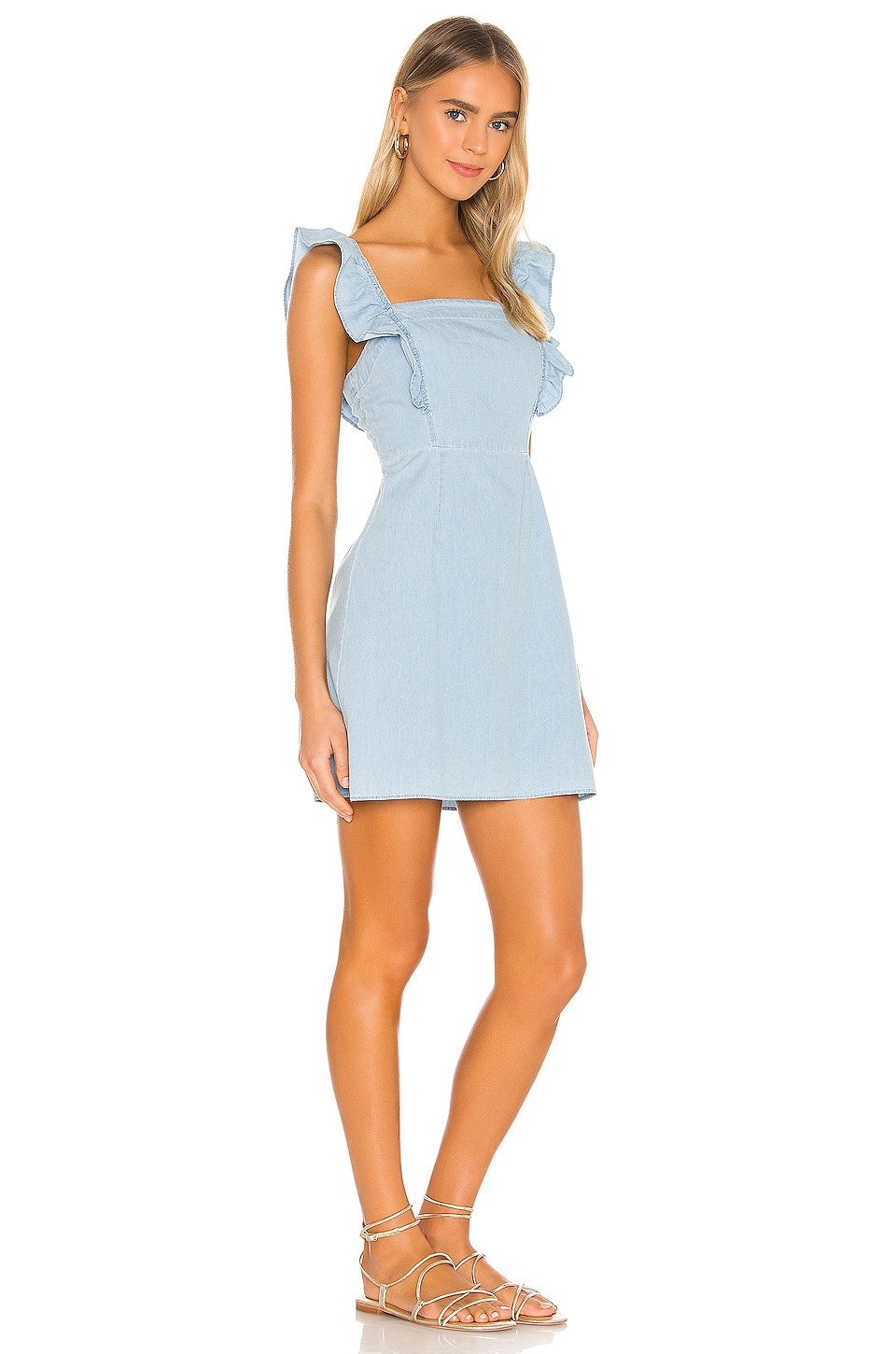 JACK by BB Dakota Chambray All Day Dress, view 2, click to view large image.