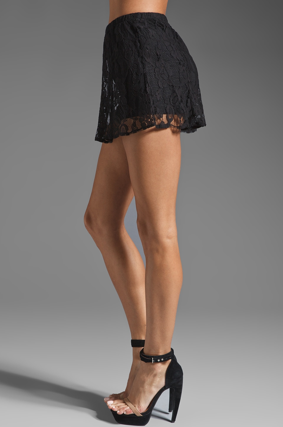 BB Dakota Aniston Lace Skort in Black