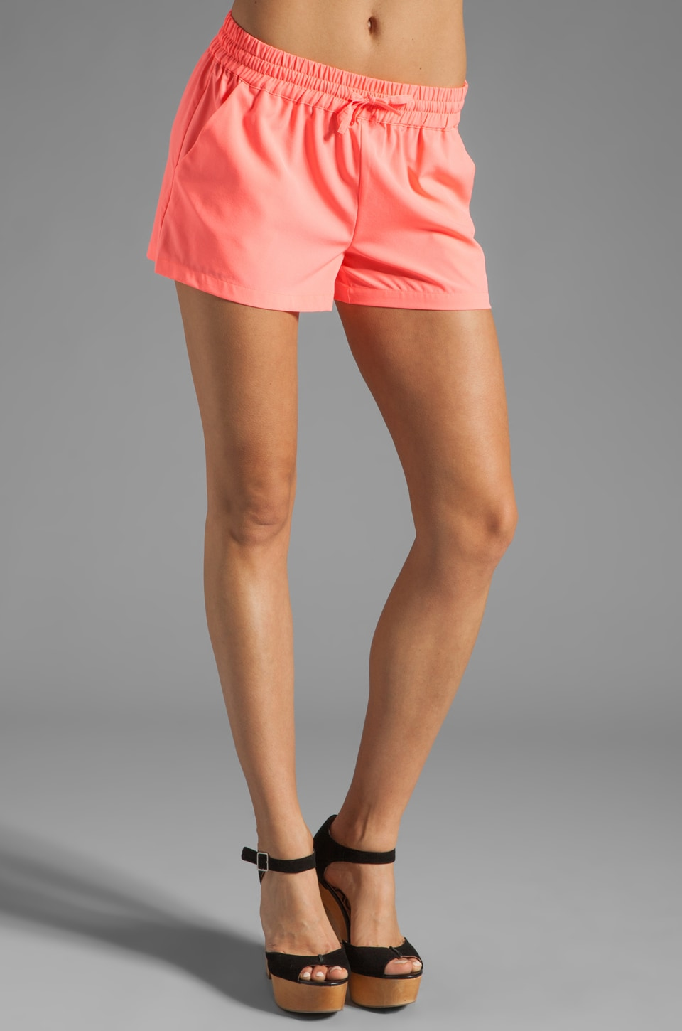 BB Dakota Jilliane Woven Shorts in Neon Pink