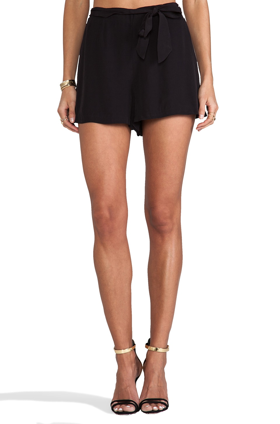 BB Dakota Nayan High Waisted Shorts in Black