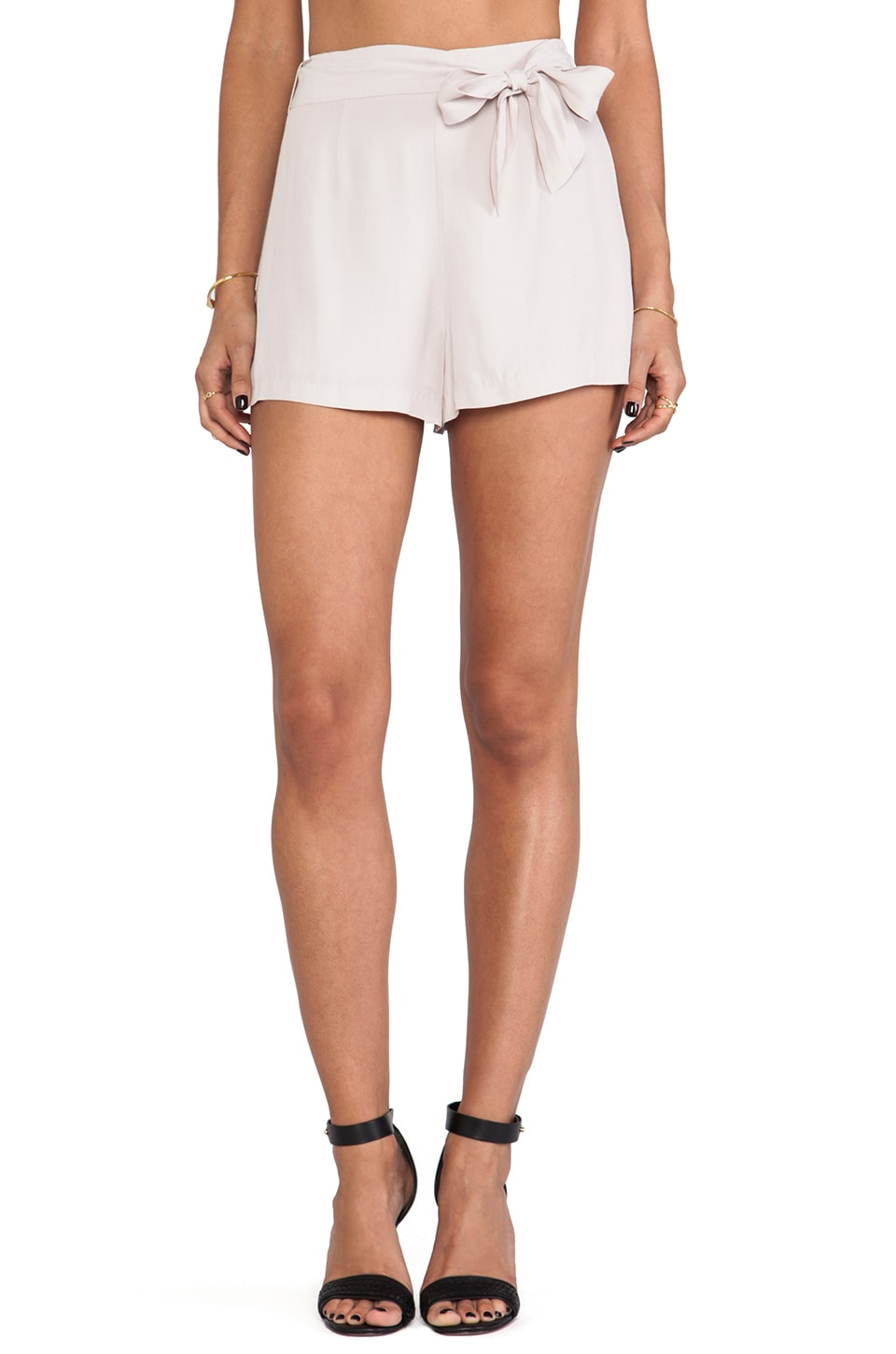 BB Dakota Nayan Heavy Crepe Shorts in Tea