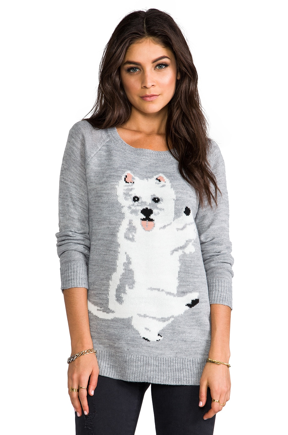 BB Dakota Colista Dog Pullover in Light Heather Grey