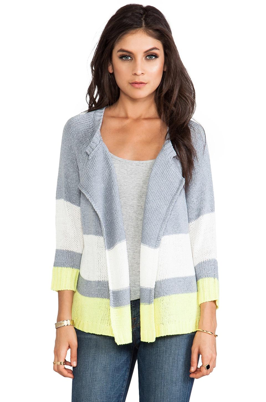 BB Dakota Idra Striped Cardigan in Heather Grey