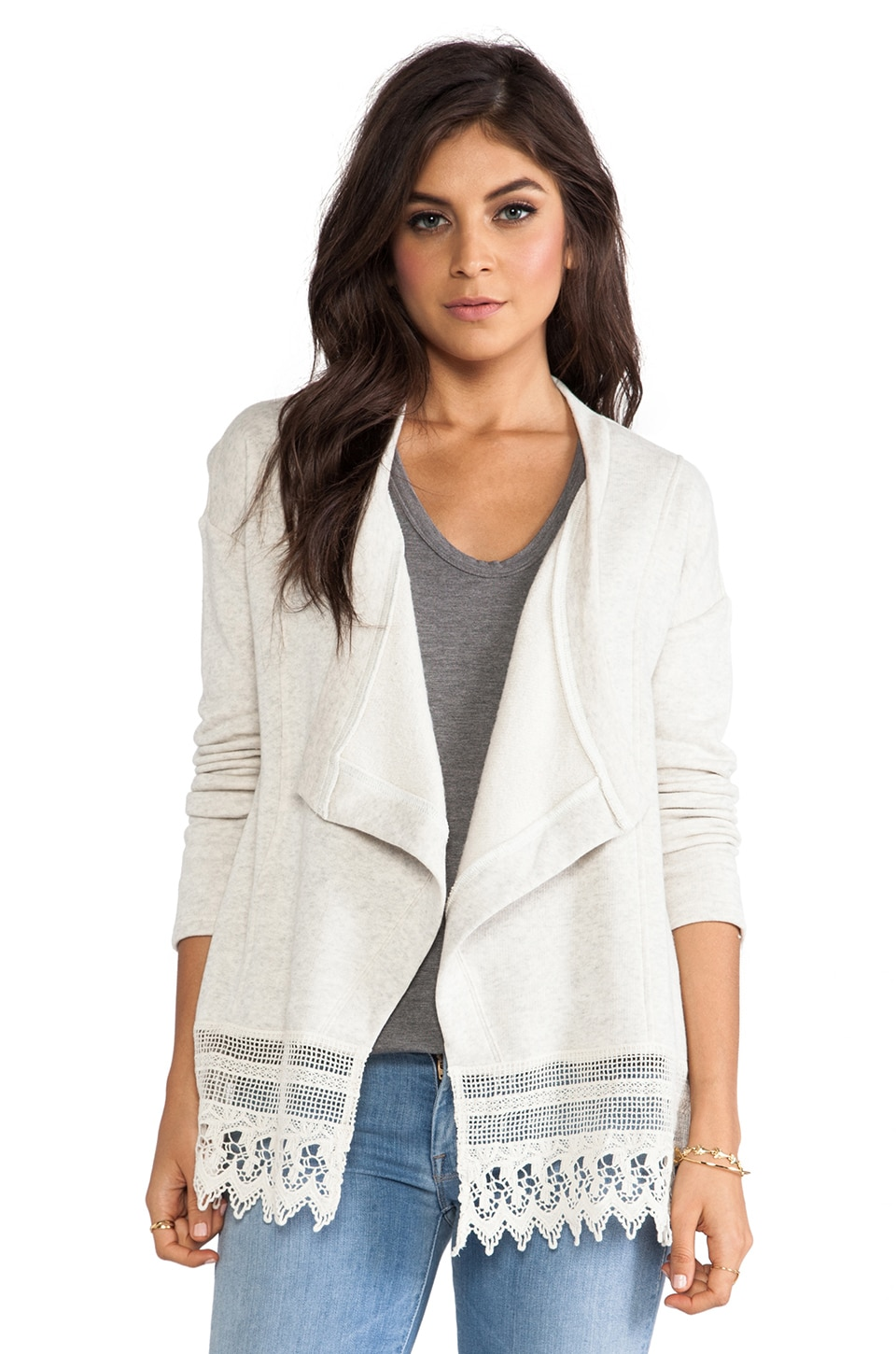 BB Dakota Bellmy Cardigan in Heather Oatmeal