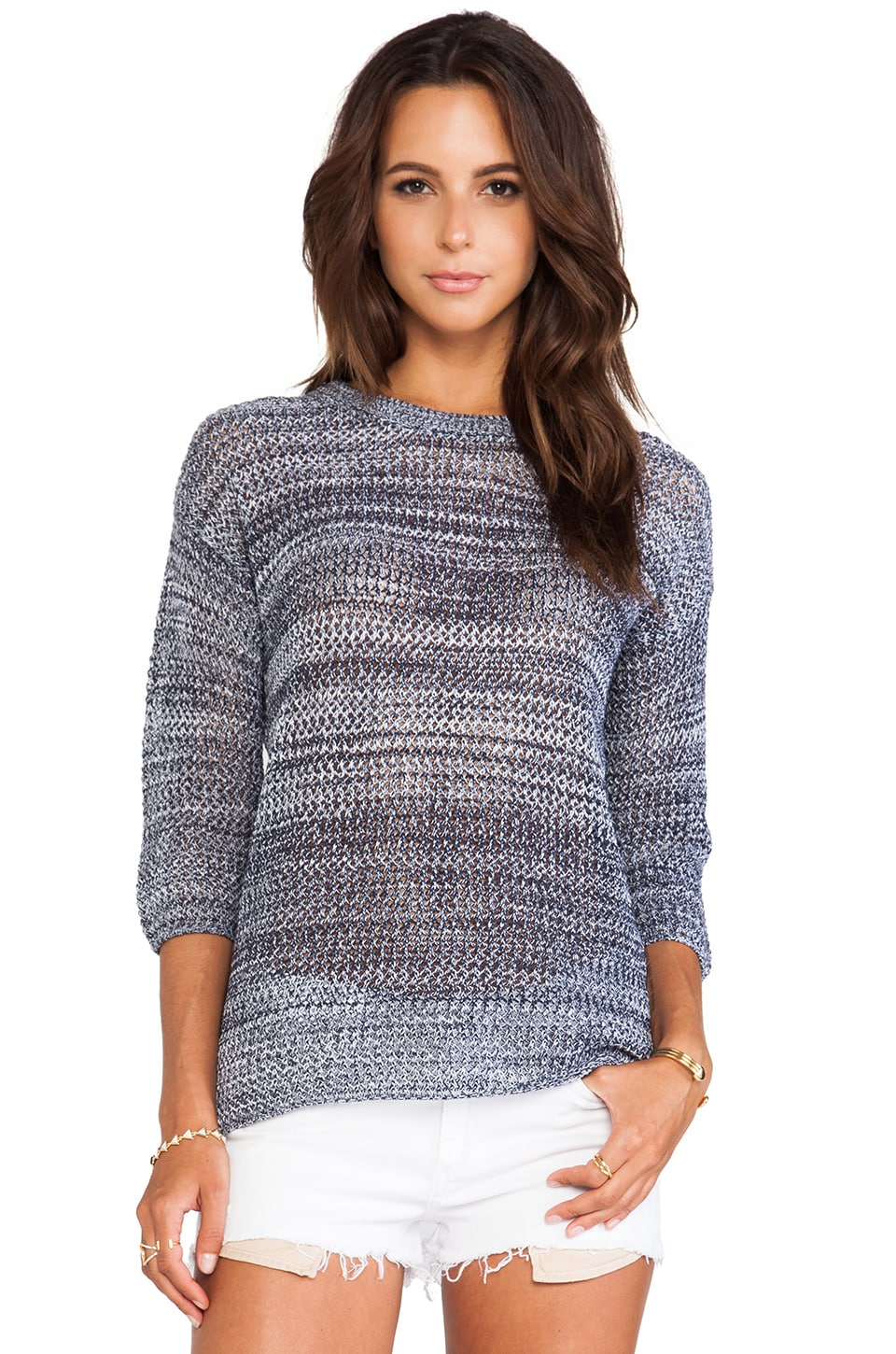 BB Dakota Realta Pullover in Cloud& Dirty White