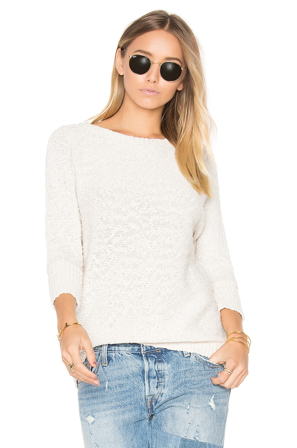 BB Dakota Ball Sweater in Oatmeal