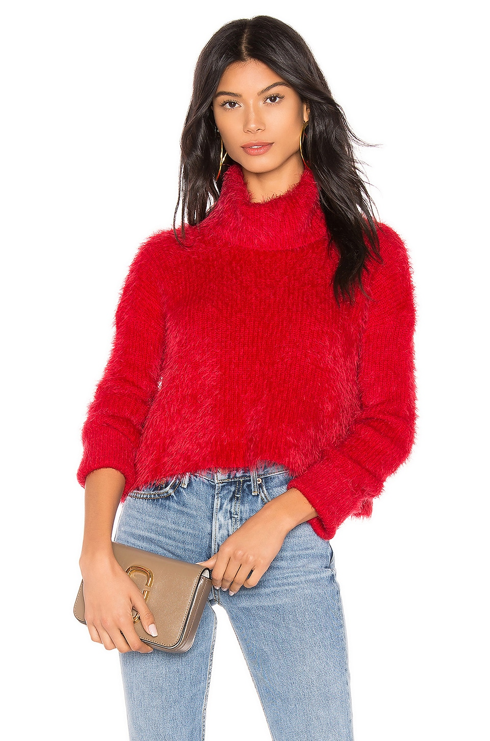 BB Dakota JACK by BB Dakota Bat Your Lashes Sweater in Cherry Red