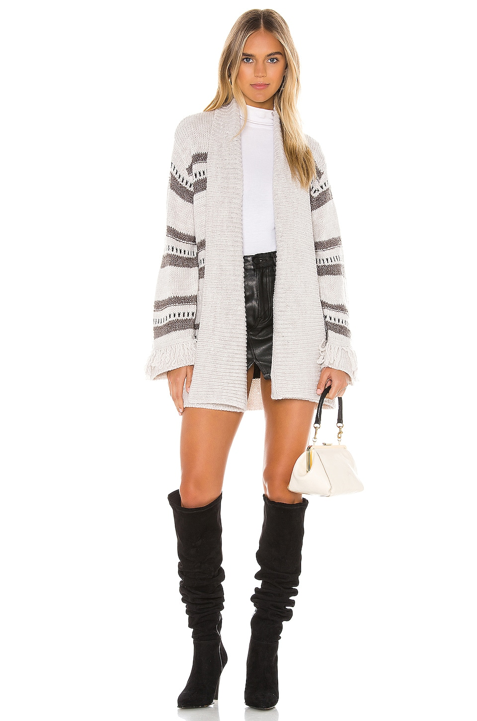 BB Dakota JACK by BB Dakota Fringe Theory Cardigan in Oatmeal
