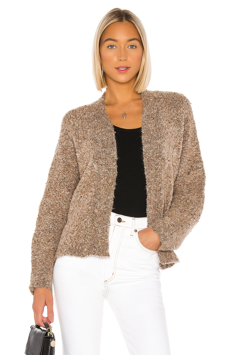BB Dakota Comin' In Cozy Cardigan in Light Camel