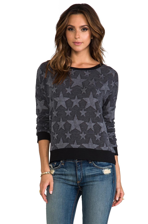 BB Dakota Washington Star Print Sweatshirt in Grey
