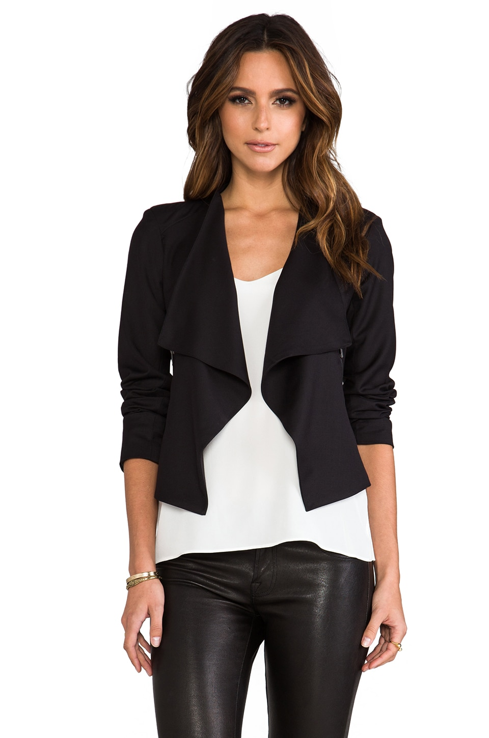 BB Dakota Miles Draped Jacket in Black