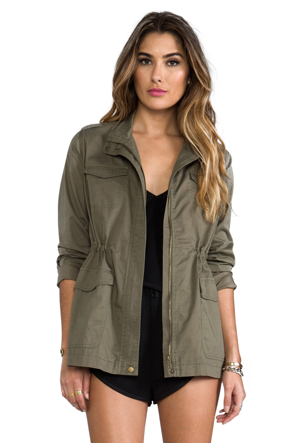BB Dakota Caitlin Military Jacket in Spring Olive