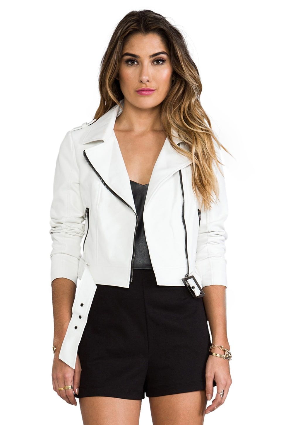 BB Dakota Bailey Moto Jacket in White