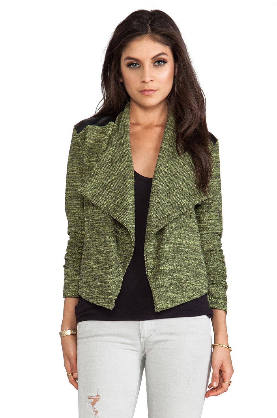 BB Dakota Hedia Moto Jacket in Limeade
