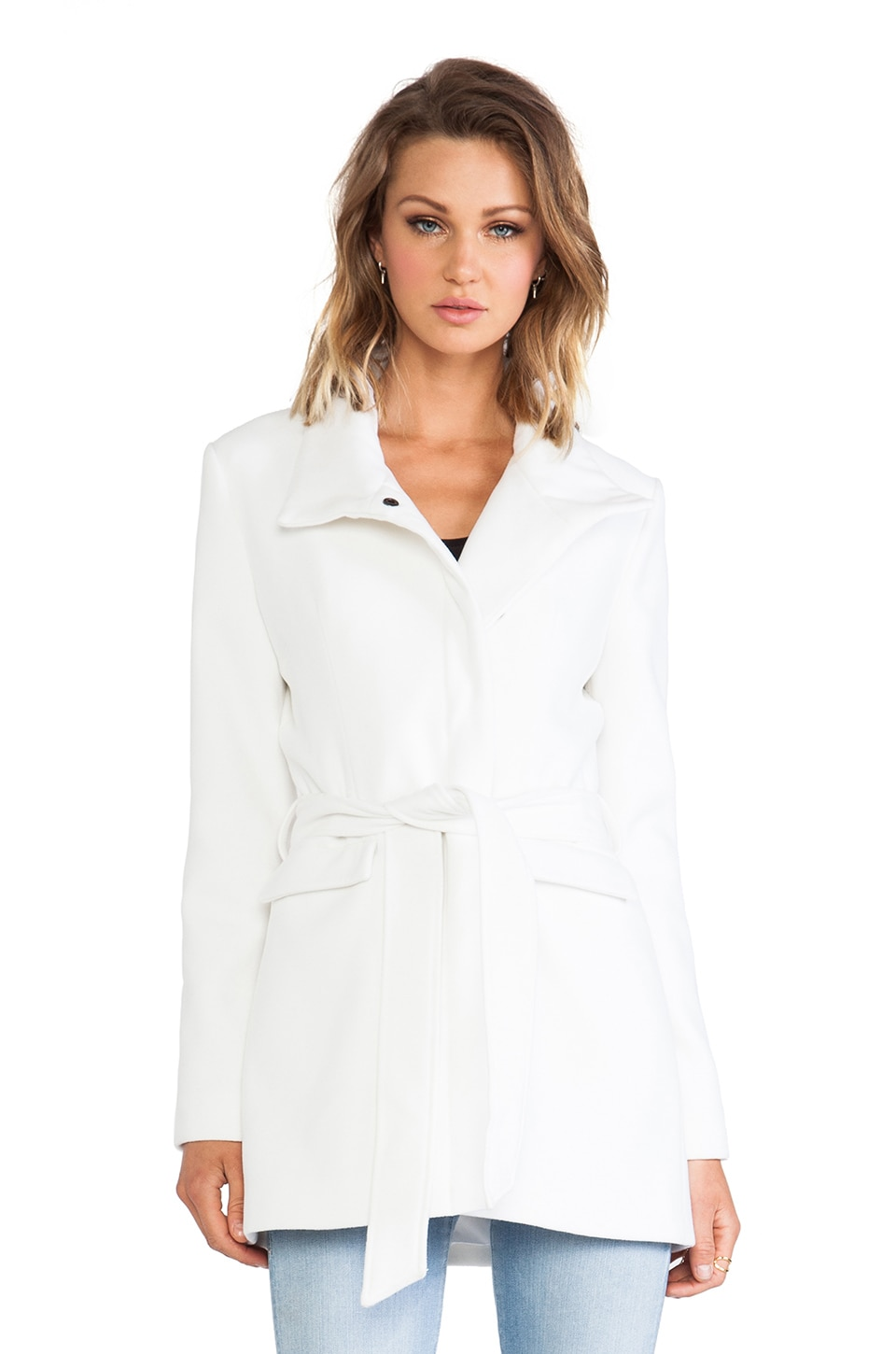 BB Dakota Cecil Coat in Ivory