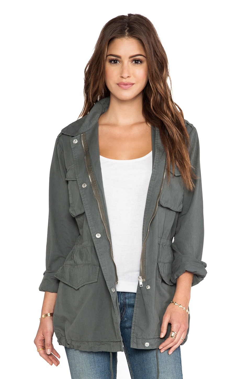 BB Dakota Mags Military Jacket in Surplus Green