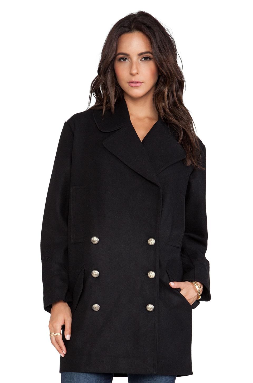 BB Dakota Wilette Bonded Wool Coat in Black