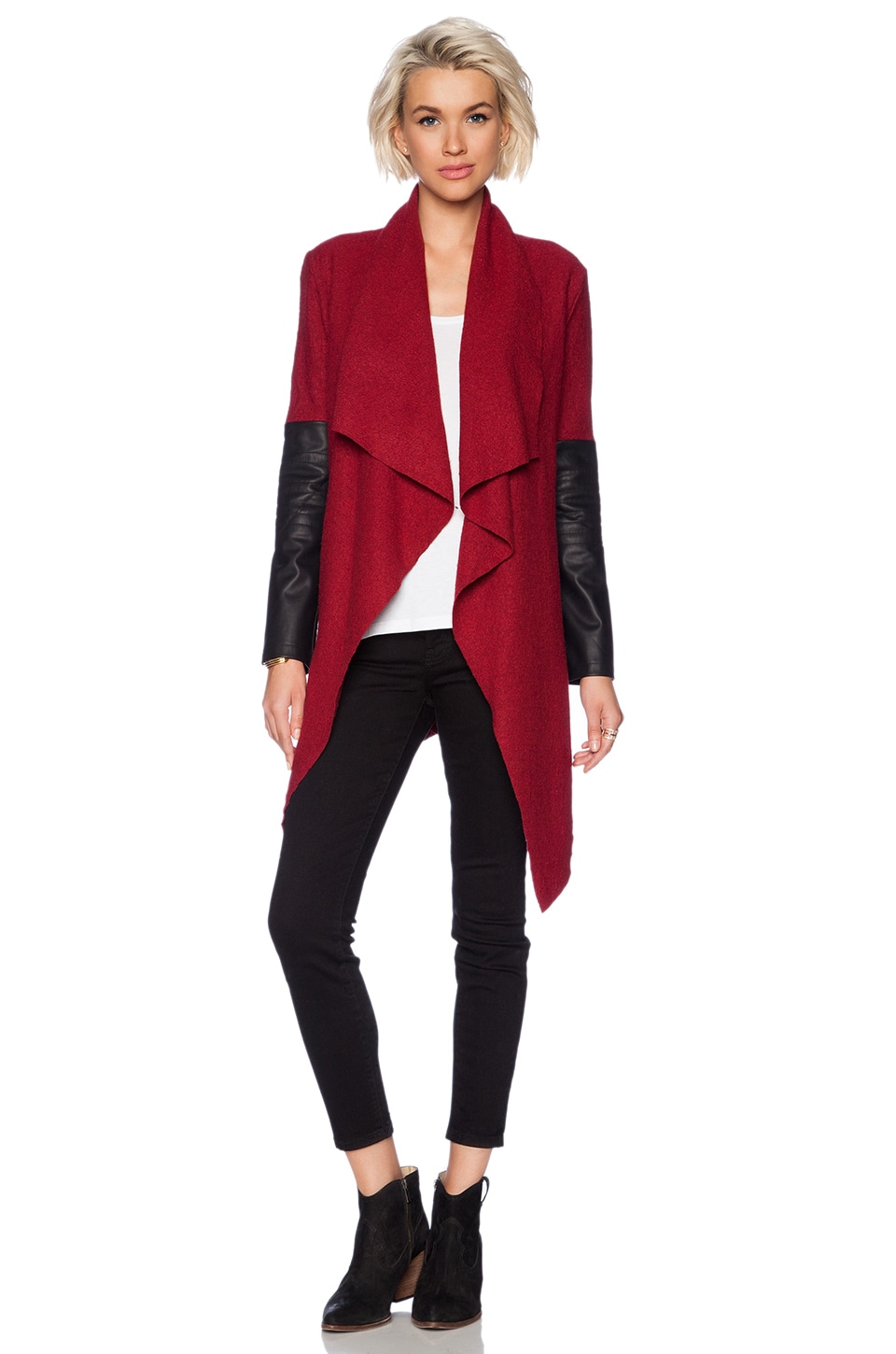 BB Dakota Henrietta Wool Jacket in Blood Red