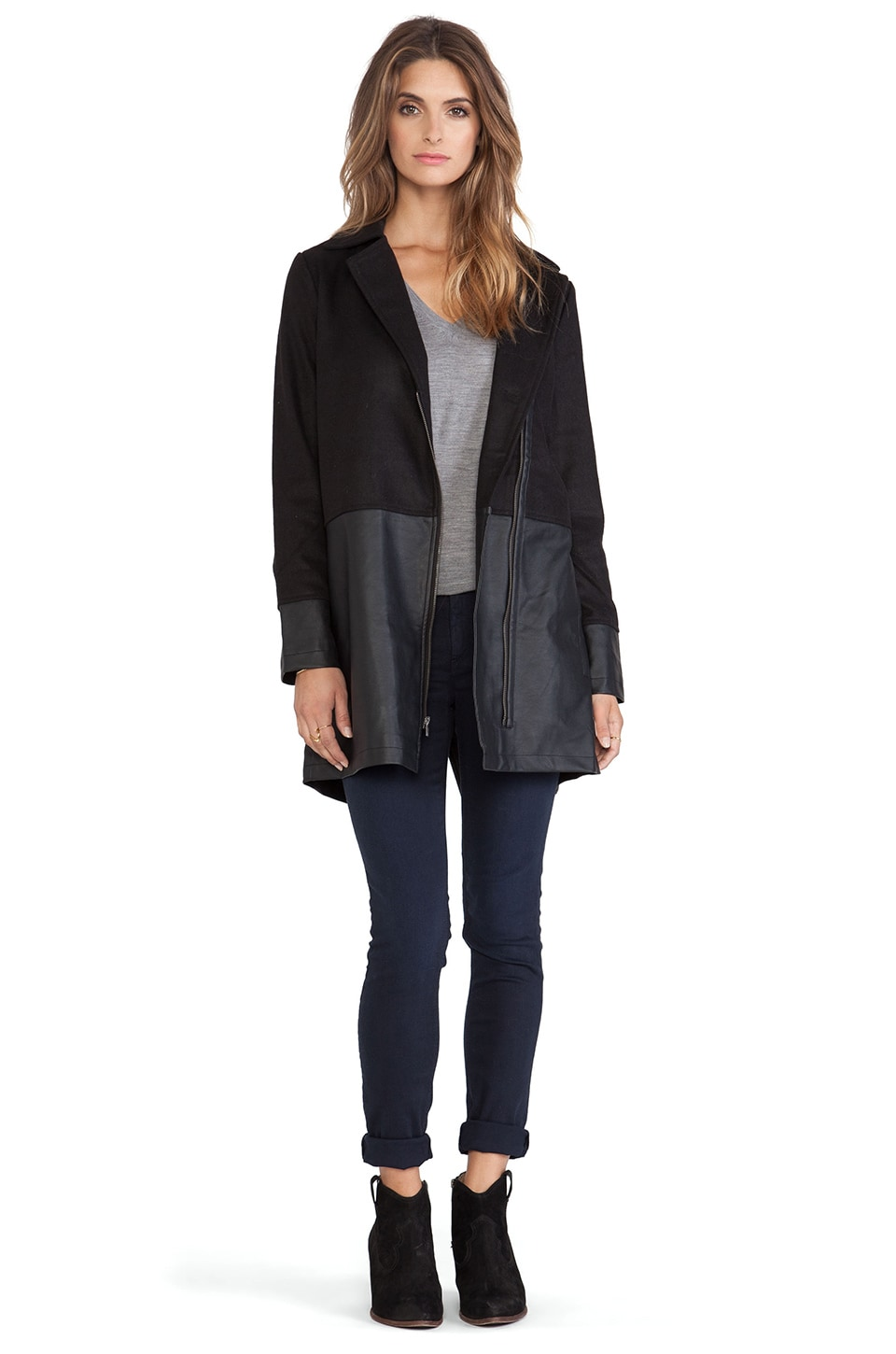 BB Dakota Rory Over-sized Jacket in Black