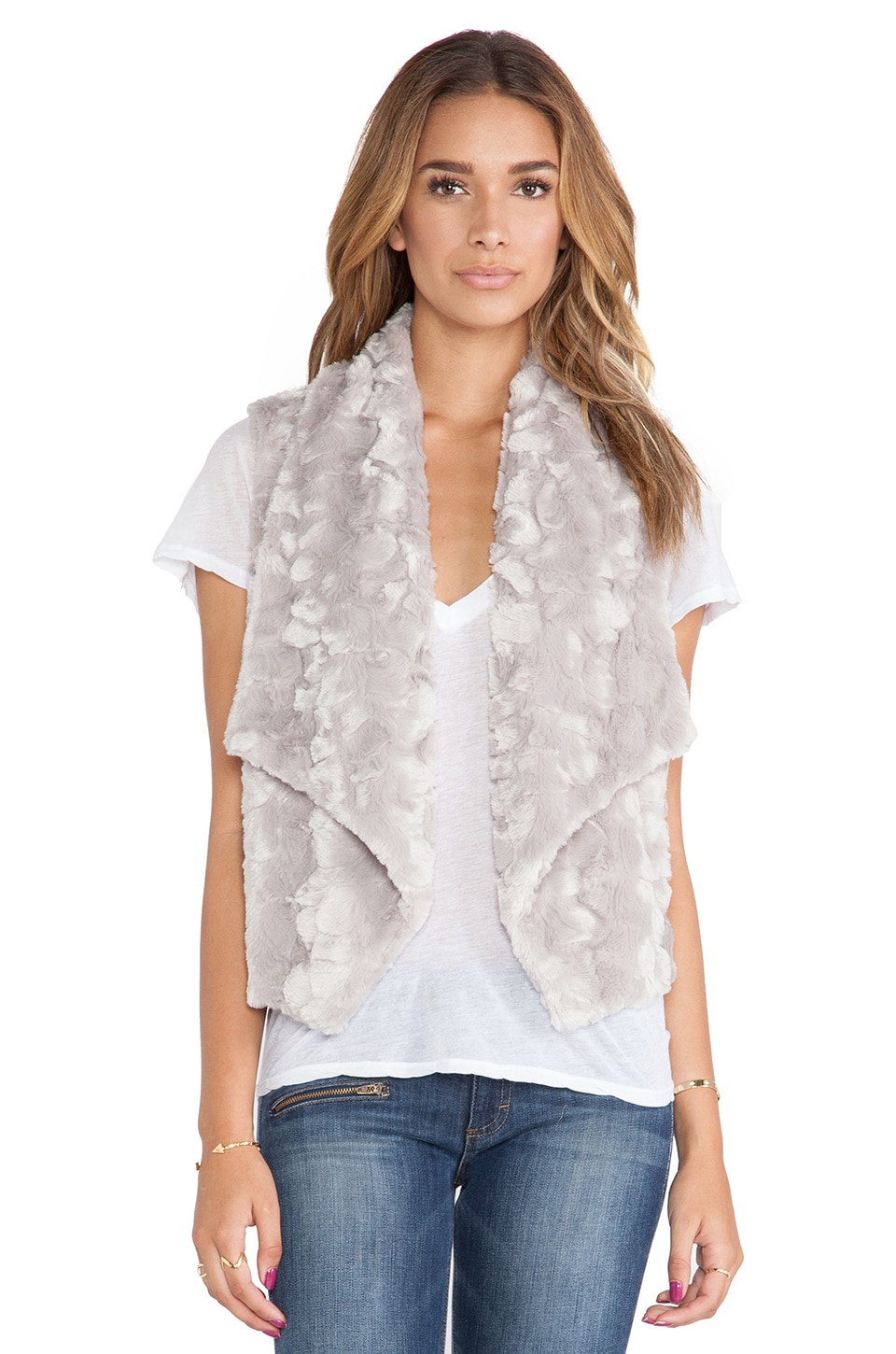 BB Dakota Stanic Faux Fur Vest in Taupe