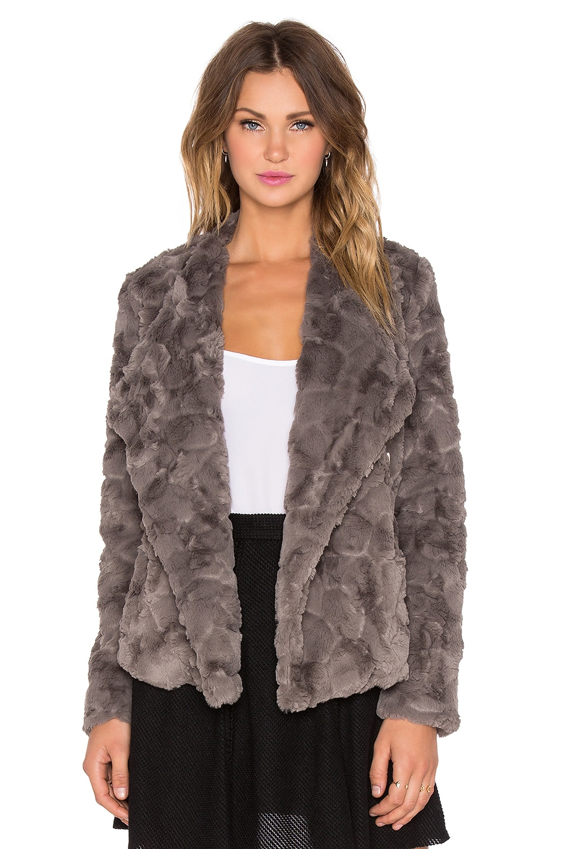 BB Dakota Jada Faux Fur Jacket in Grey
